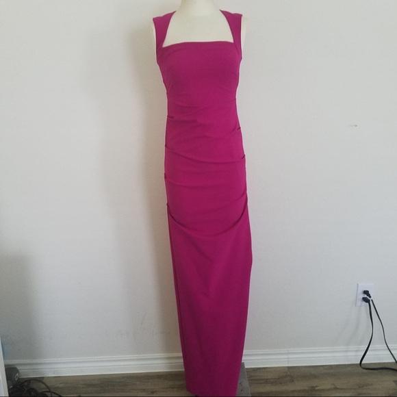 Karen Millen Dresses Evening Gown Fuchsia Dress Size 2 Poshmark